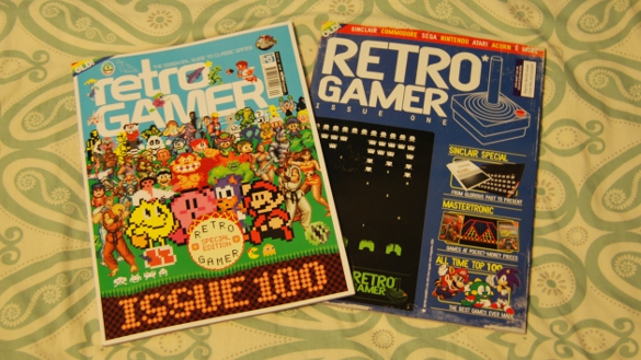 Retro Gamer #100 and #001 (Mar 2012) by Aaron Lee