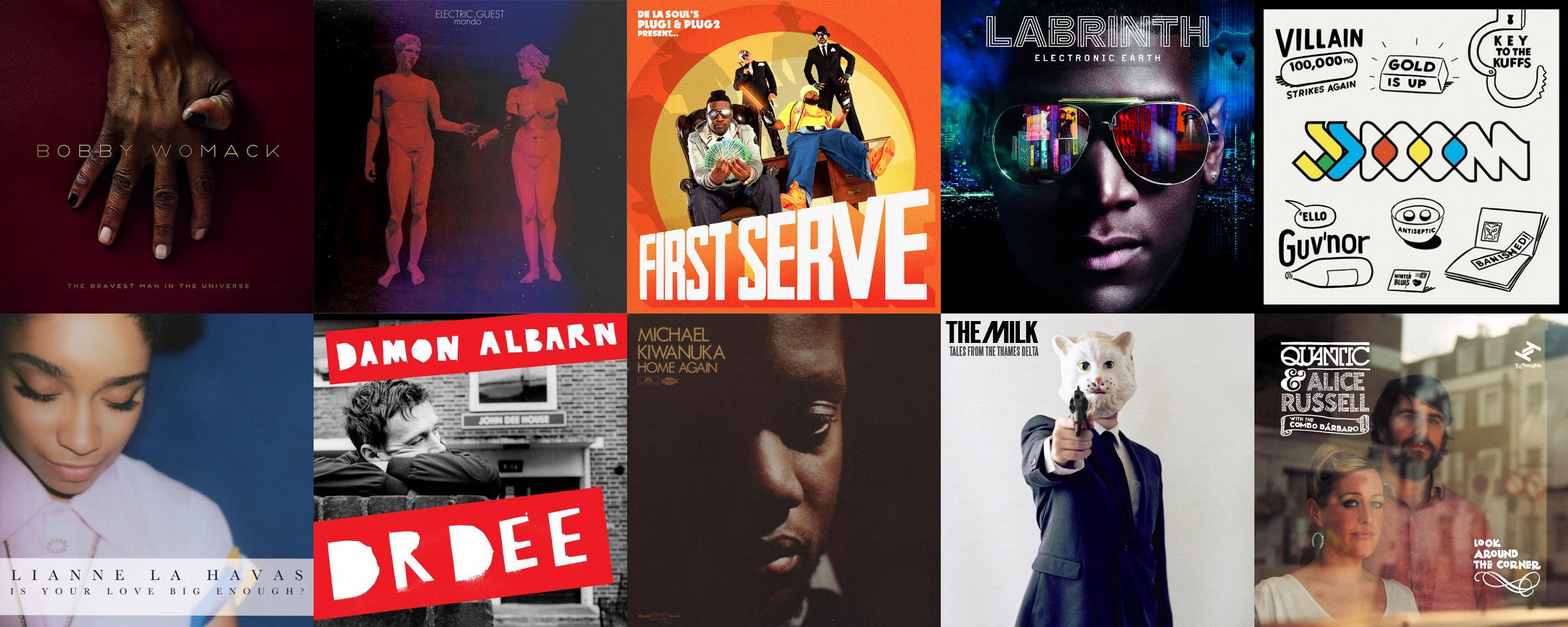 Aaron's albums of 2012, 2500x1000