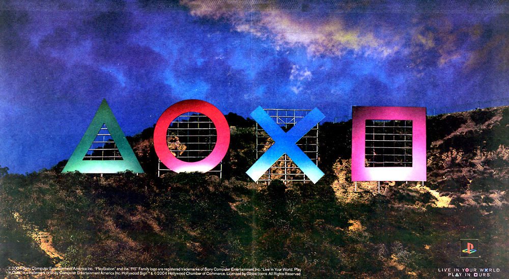 PlayStation symbols ad, SCEA, Jun 7, 2005, by David Wulff
