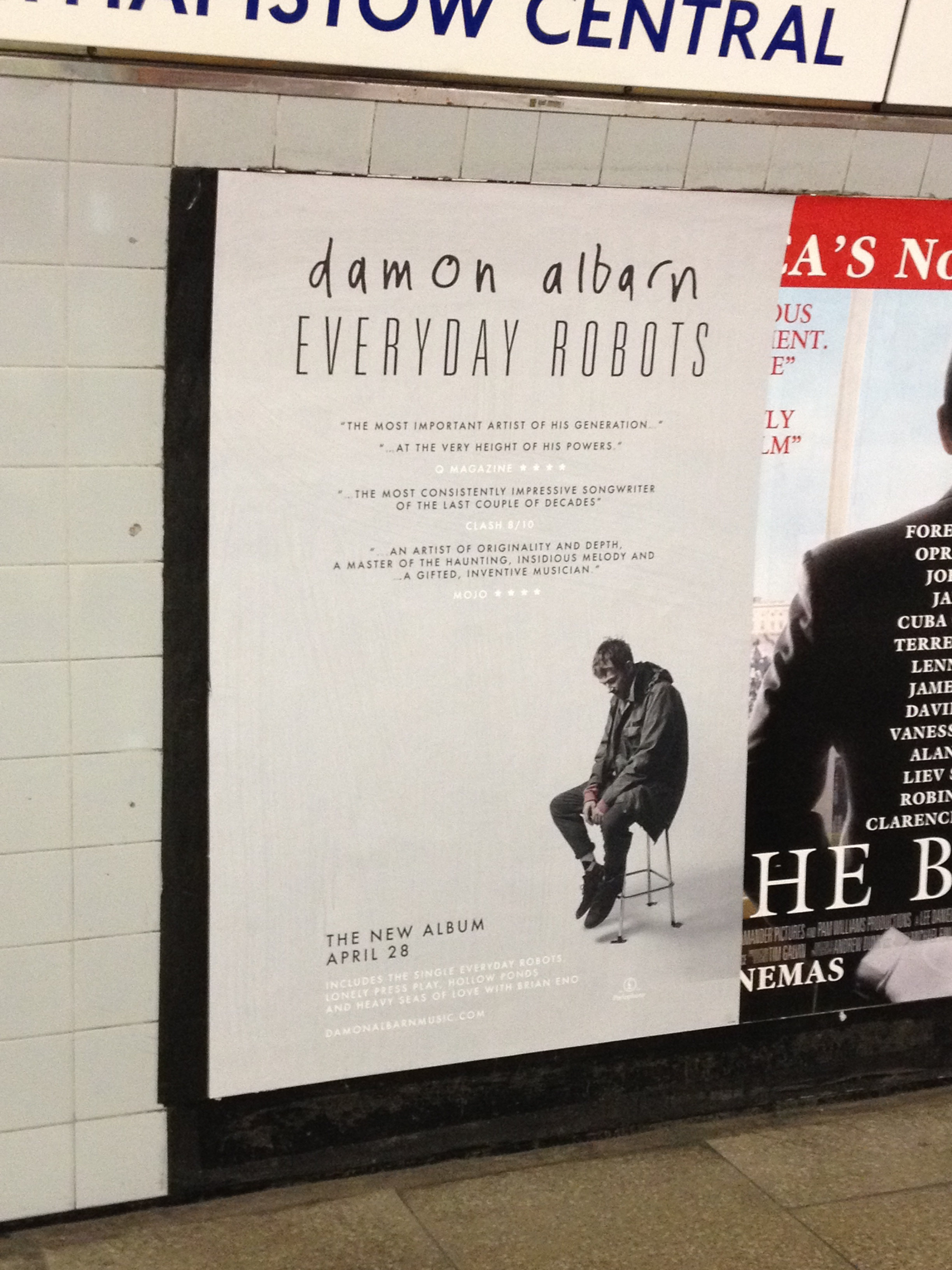 Damon Albarn - Everyday Robots ad, Apr 25, 2014, AL