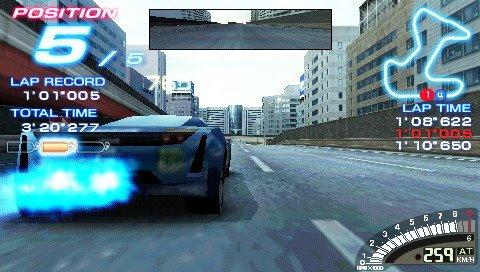Ridge Racer (PSP) 01, cockpit (480x272)